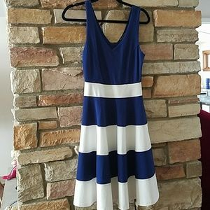 NWOT NAVY and white dress